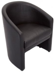 Single P U Leather Lounge