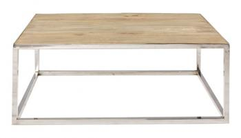 Stainless & Timber Coffee table