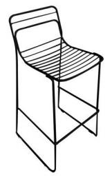 Commercial Cafe Chair Metal