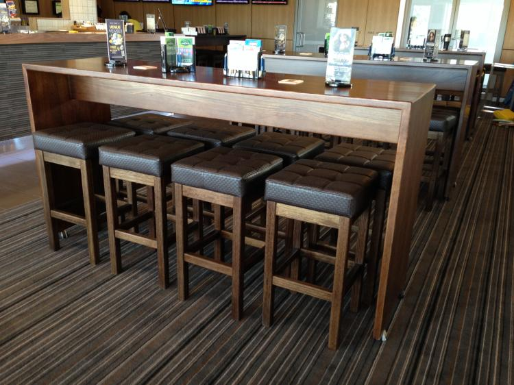 Commercial timber highbar base019 creative furniture for Outdoor furniture toowoomba